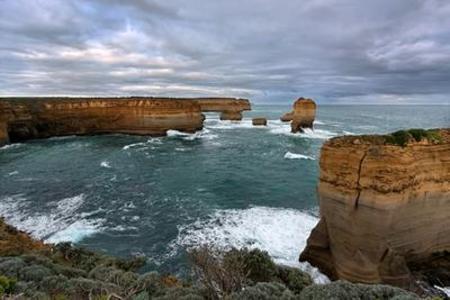 Rock formations near Twelve Apostles